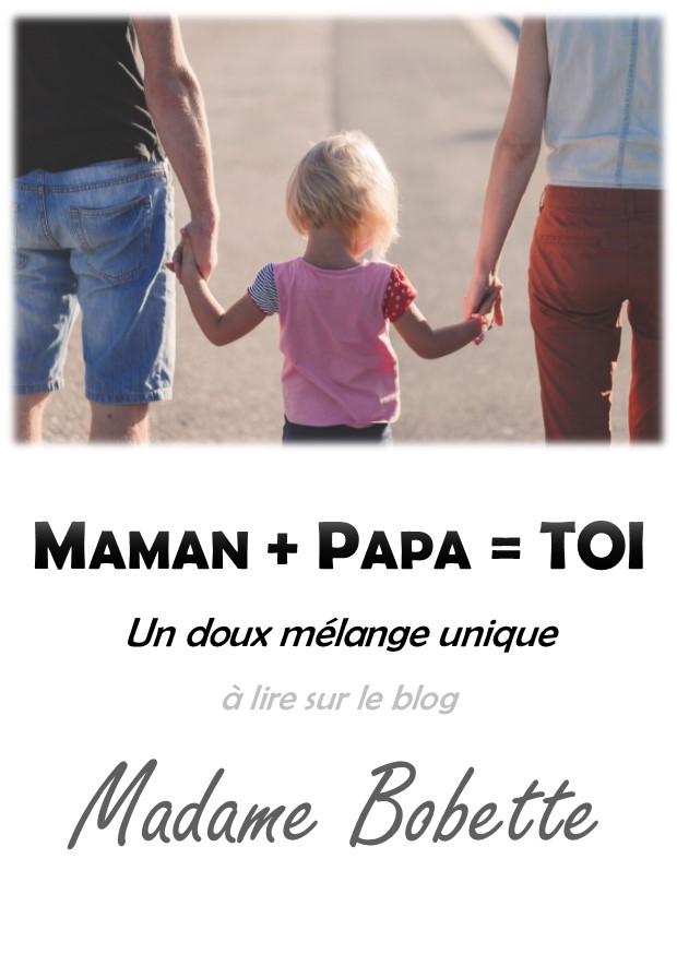 Mélange unique de papa et maman